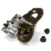 Integy Silver Aluminium Complete Twin Motor Center Gearbox
