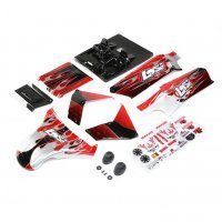 Losi 1/5 DBXL-E 2.0 Red & Black Painted Body Shell Set