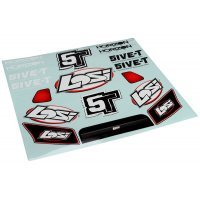 Losi 5IVE-T Grill, Lights & Logo Sticker and Decal Set