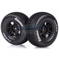"Louise 2.2/3.0"" Turbo Tyres on Black Rims - Glued Wheels 2Pcs"