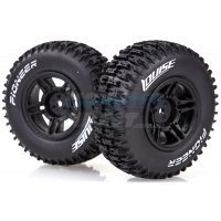 "Louise 2.2/3.0"" Pioneer Tyres on Black Rims - Glued Wheels 2Pcs"
