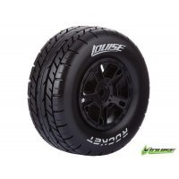 "Louise 2.2/3.0"" Rocket Tyres on Black Rims - Glued Wheels 2Pcs"