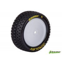 "Louise 2.2"" E-Maglev Tyres on White Dished Rims - Glued Wheels 2Pcs"