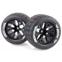 "Louise 2.8"" MT-Rocket Tyres on Black Rims - Glued Wheels 2Pcs"