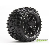 "Louise 2.8"" MT-Pioneer Tyres on Black Rims - Glued Wheels 2Pcs"