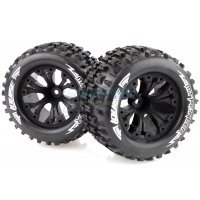 "Louise 2.8"" MT-Pioneer Tyres on (1/2 Offset) Black Rims - Glued Wheels 2Pcs"