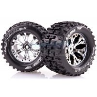 "Louise 2.8"" MT-Pioneer Tyres on (0 Offset) Chrome Rims - Glued Wheels 2Pcs"