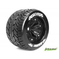 "Louise 3.8"" MT-Rocket Tyres on Black Rims - Glued Wheels 2Pcs"