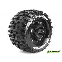 "Louise 3.8"" MT-Pioneer Tyres on Black Rims - Glued Wheels 2Pcs"