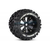 "Louise 3.8"" MT-Uphill Tyres on Black Rims - Glued Wheels 2Pcs"