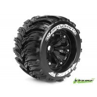 "Louise 3.8"" MT-Cyclone Tyres on Black Rims - Glued Wheels 2Pcs"