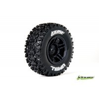 "Louise 2.2/3.0"" SC-UPHILL Tyres on Black Rims - Glued Wheels 2Pcs"
