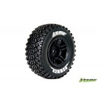 "Louise 2.2/3.0"" SC-Hummer Tyres on Black Rims - Glued Wheels 2Pcs"