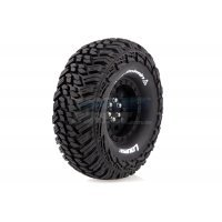 "Louise 1.9"" CR Griffin Tyres on Black 9 Spoke Rims - Glued Wheels 2Pcs"