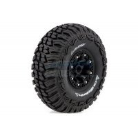 "Louise 2.2"" CR Griffin Tyres on Black 8 Spoke Rims - Glued Wheels 2Pcs"