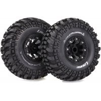 "Louise 2.2"" CR Champ Tyres on Black 8 Spoke Rims - Glued Wheels 2Pcs"