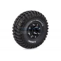 "Louise 2.2"" CR Ardent Tyres on Black 8 Spoke Rims - Glued Wheels 2Pcs"