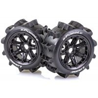 "Louise 4.7/5.5"" B-Paddle Tyres on Black Spoke Rims - Beadlocked Wheels 2Pcs"