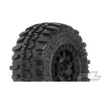 "Pro-Line 2.2/3.0"" Interco TSL SC Super Swamper Tyres on Black F-11 Rims - Glued Wheels 2Pcs"