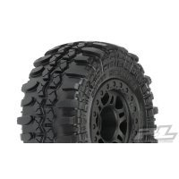 "Pro-Line 2.2/3.0"" Interco TSL SX Swamper Tyres on Black Split Six Rims - Glued Wheels 2Pcs"