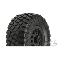 "Pro-Line 2.2/3.0"" BFGoodrich Baja T/A KR2  Tyres on Black Renegade Rims - Glued Wheels 2Pcs"