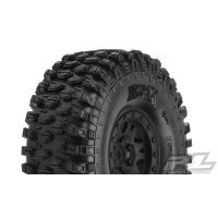 "Pro-Line 1.9"" Hyrax G8 Rock Crawler Tyres On Black Impulse Internal Bead-Loc Rims 2Pcs"