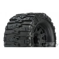 "Pro-Line 3.8"" Trencher HP Belted Tyres on Black Raid Rims - Glued Wheels 2Pcs"