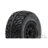 "Pro-Line 2.2/3.0"" Street Fighter Tyres on Black Renegade Rims - Glued Wheels 2Pcs"