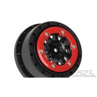 "Pro-Line 2.2/3.0"" Red/Black Renegade Beadlock Rims 2Pcs"