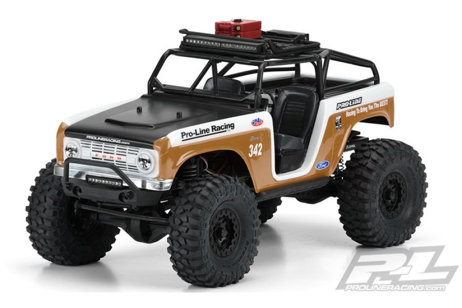 Pro-Line 1/10 1966 Ford Bronco Clear Body with Ridge-Line Trail Cage