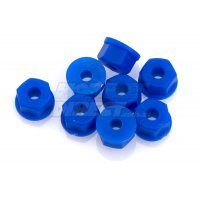 RPM Blue 3.5mm (6-32) Nylon Nuts 8Pcs