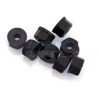 RPM Black 4mm (8-32) Nylon Nuts 8Pcs