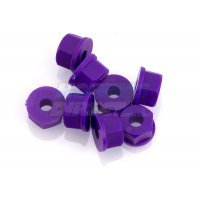 RPM Purple 4mm (8-32) Nylon Nuts 8Pcs