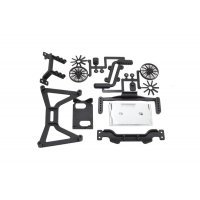 RPM Black Slash 2WD No Clip Body Mount Set
