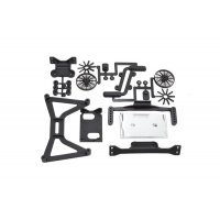 RPM Black Slash 4WD No Clip Body Mount Set