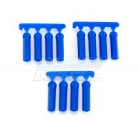 RPM Blue HPI/Losi/Associated 4.3mm Ball & 3mm/4-40 Thread Long Shank Rod Ends 12Pcs