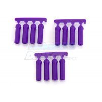 RPM Purple HPI/Losi/Associated 4.3mm Ball & 3mm/4-40 Thread Long Shank Rod Ends 12Pcs