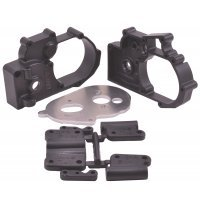RPM Black Slash 2WD/E-Rustler/E-Stampede/Bandit Gearbox Housing & Rear Mount Set