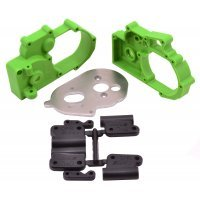 RPM Green Slash 2WD/E-Rustler/E-Stampede/Bandit Gearbox Housing & Rear Mount Set