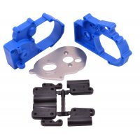 RPM Blue Slash 2WD/E-Rustler/E-Stampede/Bandit Gearbox Housing & Rear Mount Set