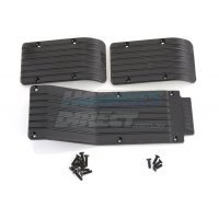 RPM Black T/E-Maxx Skid Plate Set