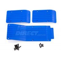 RPM Blue T/E-Maxx Skid Plate Set