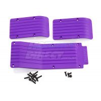 RPM Purple T/E-Maxx Skid Plate Set