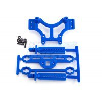 RPM Blue T/E-Maxx Front or Rear Shock Tower & Mounts