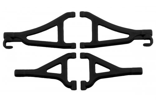 RPM Black 1/16 E-Revo Front Upper & Lower Suspension Arm Set