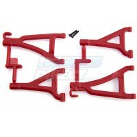 RPM Red 1/16 E-Revo Front Upper & Lower Suspension Arm Set