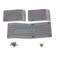RPM Black T/E-Maxx (4908 & 3905) Skid Plate Set