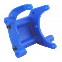 RPM Blue Slash 2WD/E-Rustler/E-Stampede/Bandit Rear Bumper Mount/Wheelie Bar