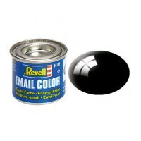Revell 07 Gloss Black Enamel Paint 14ml