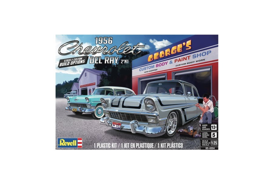 Revell 1/25 1956 Chevy Del Ray 2'N1 Scaled Plastic Model Kit